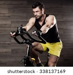 portrait of a physically fit... | Shutterstock . vector #338137169