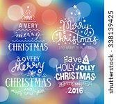 christmas text illustration set ...   Shutterstock .eps vector #338139425