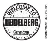 welcome to heidelberg grunge... | Shutterstock .eps vector #338148404
