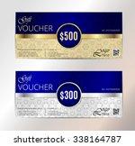 luxury gold vip club card... | Shutterstock .eps vector #338164787