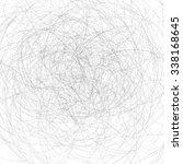 vector black strokes isolated... | Shutterstock . vector #338168645