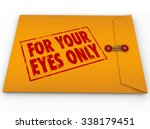 for your eyes only in red... | Shutterstock . vector #338179451