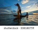Fisherman Of Lake In Action...