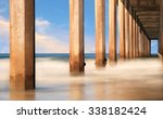 under the pier standing on the... | Shutterstock . vector #338182424