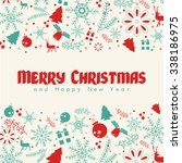 christmas elements  with text... | Shutterstock .eps vector #338186975