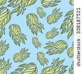 seamless vector floral pattern... | Shutterstock .eps vector #338187521