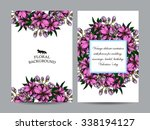 invitation with floral... | Shutterstock . vector #338194127