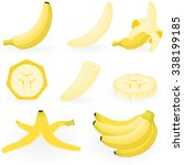 vector illustration of banana. | Shutterstock .eps vector #338199185