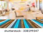 image of blur people at modern...   Shutterstock . vector #338199347