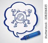 doodle robot | Shutterstock . vector #338206835