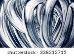 grunge brush strokes hand... | Shutterstock . vector #338212715