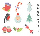 christmas icons set  vector | Shutterstock .eps vector #338217281