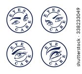 eyes care stamps  icons set.... | Shutterstock .eps vector #338233049