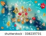 unusual christmas background ... | Shutterstock . vector #338235731