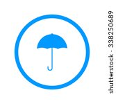 umbrella sign icon. rain...
