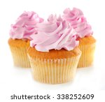 tasty cupcakes  isolated on... | Shutterstock . vector #338252609
