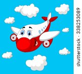 cartoon plane character | Shutterstock .eps vector #338253089
