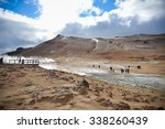 Geysir Valley In Iceland