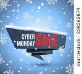 cyber monday sale background...   Shutterstock .eps vector #338263874