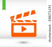 clapper board  icon. one of set ... | Shutterstock .eps vector #338271191