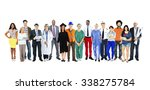group of multiethnic mixed... | Shutterstock . vector #338275784