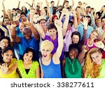 large group of community people ... | Shutterstock . vector #338277611