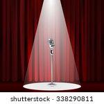 metallic silver vintage... | Shutterstock .eps vector #338290811