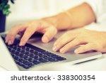 businessman's hands using... | Shutterstock . vector #338300354