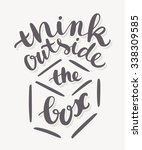 think outside the box. | Shutterstock .eps vector #338309585