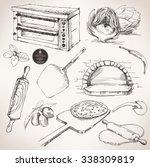 ingredients for pizza  vector... | Shutterstock .eps vector #338309819