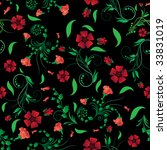 seamless vector floral... | Shutterstock .eps vector #33831019