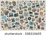 color vector hand drawn doodle... | Shutterstock .eps vector #338310605