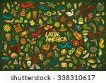 colorful vector hand drawn... | Shutterstock .eps vector #338310617
