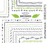 vector decorative scribble... | Shutterstock .eps vector #338313371