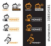 Orange And Black Monkey Logo...
