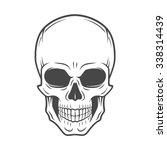 human evil skull vector. jolly... | Shutterstock .eps vector #338314439