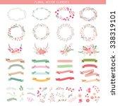 wedding graphic set  flowers ... | Shutterstock .eps vector #338319101