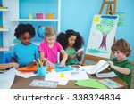 Happy Kids Doing Arts And...