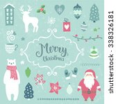 merry christmas decoration... | Shutterstock .eps vector #338326181
