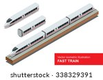 Fast Train. Vector Isometric...