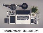 top view office style desk | Shutterstock . vector #338331224