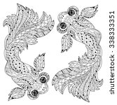 zentangle stylized floral china ... | Shutterstock .eps vector #338333351