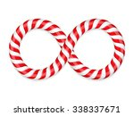 infinity symbol made of candy... | Shutterstock .eps vector #338337671
