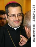 Small photo of CASSINO, FR, ITALY - 20 FEBRUARY, 2008: Pietro Vittorelli, former abbot of the Abbey of Montecassino, at the inauguration of the academic year 2008 at the University of Cassino.