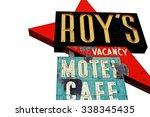 amboy  u.s.a.   oct 27 2015 ... | Shutterstock . vector #338345435