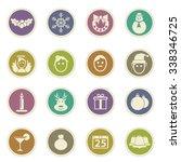 vector christmas symbol for web ... | Shutterstock .eps vector #338346725