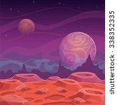 Fantasy Alien Landscape  Vecto...