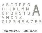 alphabet and arabic numerals... | Shutterstock . vector #338356481