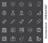 medical line icons set   vector ... | Shutterstock .eps vector #338365487