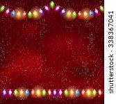 Christmas Light Garland On The...
